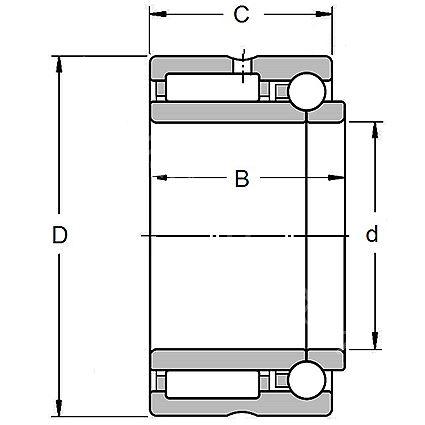Technische Zeichnung Nadellager kombiniert NKIB 5902