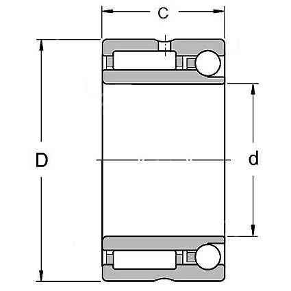 Technische Zeichnung Nadellager kombiniert NKIA 5902 A